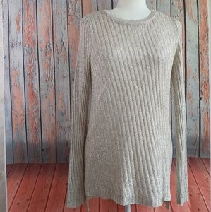 APT.9 Sequin Ribbed Sweater Womens Size S